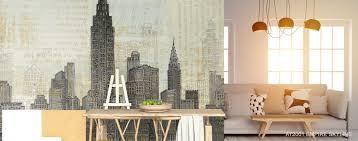 City Murals Skyline Wallpaper Murals Your Way
