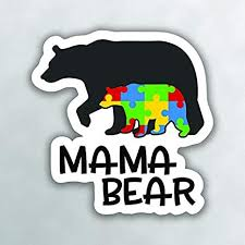 Amazon Com Autism Mama Bear Vinyl Decal Sticker Car Truck Van Suv Window Wall Cup Laptop One 5 Inch Decal Mks0999 Arts Crafts Sewing
