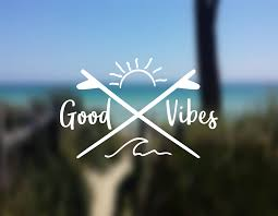 Decal Good Vibes Wave Decal Ocean Decal Vinyl Decal Car Window Decal Laptop Decal Yeti Decal Wat Car Decals Vinyl Phone Decals Vinyl Window Decals