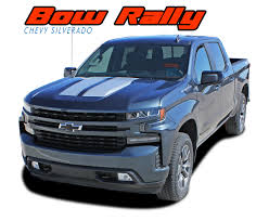 Bow Rally Silverado Hood Decals Silverado Hood Racing Stripes Vinyl Graphics