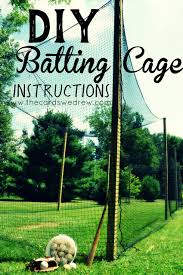 how to build a batting cage