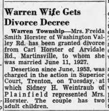 Carl Horster & Freda Smith divorce - Newspapers.com