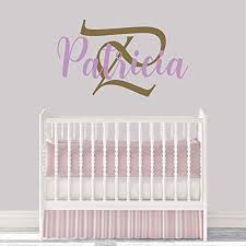 Amazon Com Girl S Custom Name And Initial Wall Decal Choose Your Own Name Initial And Letter Styles Multiple Sizes Wall Decal Girl S Name Girl S Custom Name And Initial Wall Decal Sticker Wall Decor