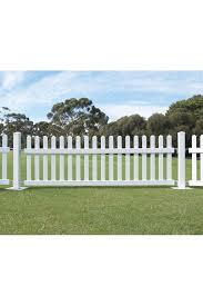 Pvc Picket Fence Panel 100h X 300cmw Holstens