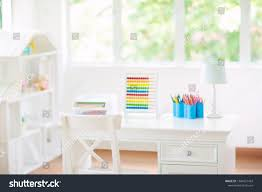 Kids Bedroom Wooden Desk Doll House Education Stock Image 1384421453