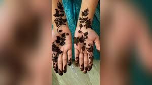 modern instagram unique simple mehndi design