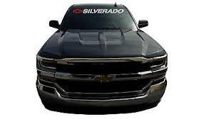 Chevy Silverado Windshield Banner Chevrolet Vinyl Sticker Window Decals Bow Sign 16 90 Picclick