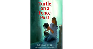 Turtle On A Fence Post By June Rae Wood