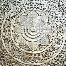carved wall art from thailand aromas life