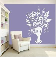 Vase Wall Stickers Flowers Art Decal Transfer Living Room Bedroom Removable Ebay