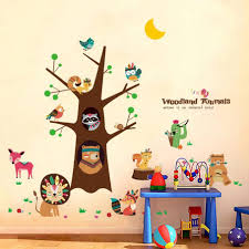 Animal Wall Decals For Baby Room Woodland Safari Art Black And White Large Sea Forest Vamosrayos