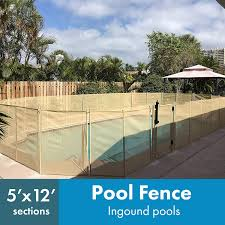Amazon Com Waterwarden 5 X 12 Beige Removeable Outdoor Child Safety Fencing For Inground Pools Easy Diy Installation With Hardware Included Wwf300b 5 Foot Garden Outdoor