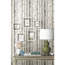 Shop Roommates Birch Trees White Brown Peel And Stick Wall Decal Overstock 13027890
