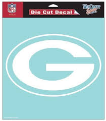 Amazon Com Green Bay Packers Nfl Vinyl Die Cut Window Decal Auto Car Logo White 8x8 Sticker Football Licensed Team Logo Sports Fan Wall Decor Stickers Sports Outdoors