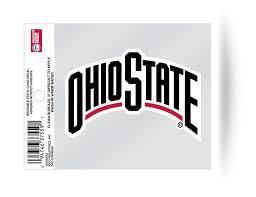 Ohio State Buckeyes Wordmark Static Cling Decal New Car Or Truck Win Hub City Sports