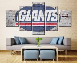 New York Giants Ny Nfl Football 5 Panel Canvas Wall Art Home Decor Decal Labs Canvas Wall Decor Canvas Art Wall Decor Home Decor Sets