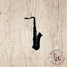 Saxophone Vinyl Decal Etsy