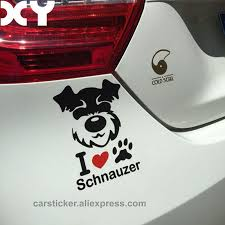 Schnauzer Vinyl Decal Waterproof Dog Stickers Car Stickers And Decals Motorcycle Stickers