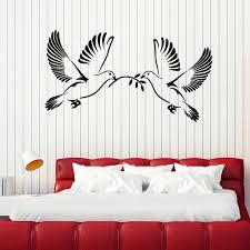 Peace Dove Wall Decal Pigeons Birds Vinyl Door Window Stickers Romantic Bedroom Baby Room Nursery Interior Decor Wallpaper E864 Wall Stickers Aliexpress
