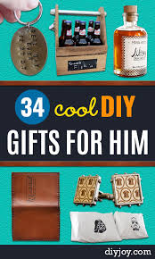 diy gifts for him handmade gift ideas