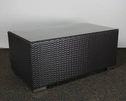 wicker glass top coffee table outdoor