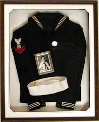 military shadow box navy uniforms