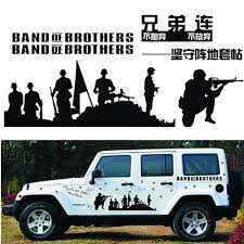 Car Stickers Band Of Brothers Us Army Battle War Funny Creative Decals Vinyls Auto Tuning Styling 100cm 6 Pcs Set D22 Car Sticker Stickers Bandband Stickers Aliexpress