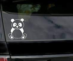 Cute Panda Bear Face Funny Sticker Car Window Bumper Vehicle Wall Vinyl Decal Home Garden Home Decor Decals Stickers Vinyl Art Home Decor