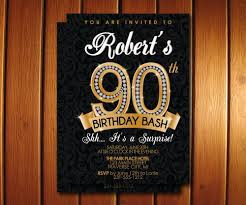 90th Birthday Invitation Diamond Milestone Adult Birthday Party