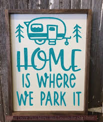 This Is Our Happy Place Wall Decal Stickers Vinyl Lettering Inspirational Camping Decor Rv Decor Remodeled Campers