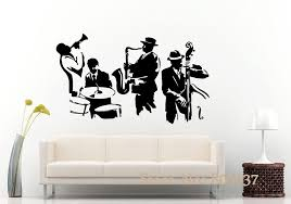 Wall Decal Jazz Saxophone Instrument Tool Band Musical Player Sticker Art Vinyl Drums Bass Wall Decal Vinyl Mural Adesivo Wall Decals Kids Wall Decals Large From Joystickers 11 58 Dhgate Com
