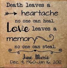Love Leaves A Memory Personalized Vinyl Lettering Decals Wall Art Stickers Memorial Tile Quote