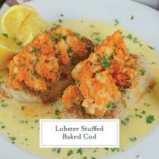 Lobster Stuffed Baked Cod - A Gourmet ...