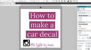 Silhouette Studio Car Decal Oracal 651 Youtube
