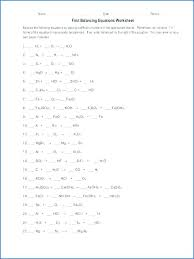 balancing chemical equations answer key