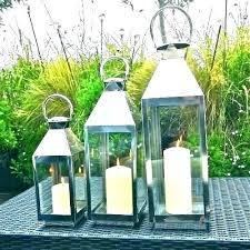 candle lanterns large outdoor lantern