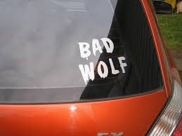 Doctor Who Bad Wolf Vinyl Decal Sticker Bad Wolf Doctor Who Vinyl