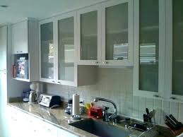 frosted glass kitchen cabinets