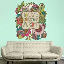My Wonderful Walls Today Is Going To Be Awesome By Valentina Harper Wall Decal Wayfair