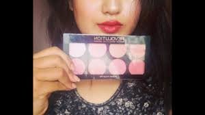 makeup revolution london blush review