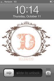 10204 vine monogram phone wallpaper
