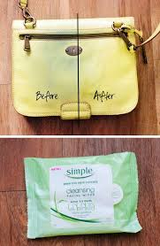 stain from purses with wipes