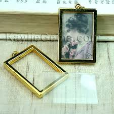 charm pendant double sided rectangle