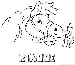 Rianne Paard Van Sinterklaas Naam Kleurplaat