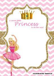 Free Princess Barbie Baby Shower Invitations Templates Bagvania
