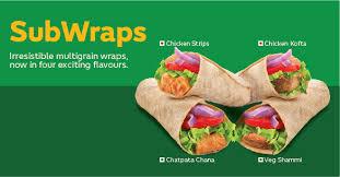 menu subway india english
