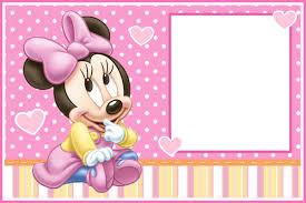 Kit Imprimible Minnie Bebe Bolsitas Invitaciones Candy