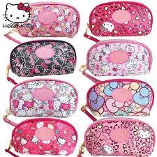 o kitty cute cartoon makeup bag