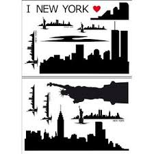 Shop Brewster Dm74102 Variable Sized New York Skyline Self Adhesive Repositionable Vinyl Wall Decal Set Of 14 Free Shipping Today Overstock 25653369