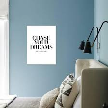 Chase Your Dreams In High Heels Art Print Motivated Type Art Com
